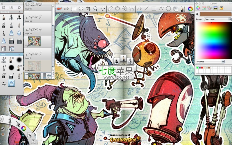 autodesk sketchbook pro for mac 2015专业绘图软件 最新